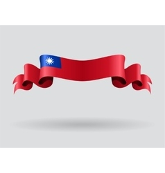 Taiwan wavy flag vector image