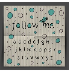 Handwriting Alphabet - Follow me vector image