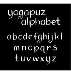 Yogapuz alphabet typography vector