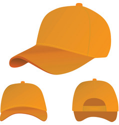 Orange baseball cap vector
