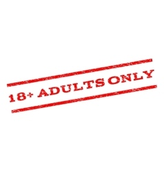 18 plus adults only watermark stamp vector