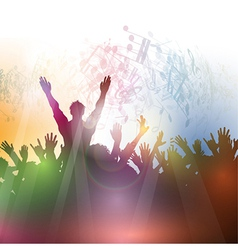 Silhouette of a party crowd on an abstract vector
