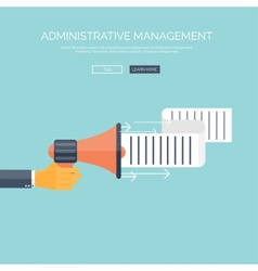 Flat loudspeaker icon administrative management vector