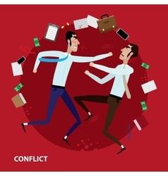 Conflict of two businessmen vector