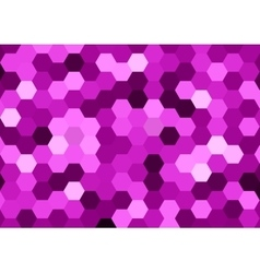 Purple hexagon abstract background vector