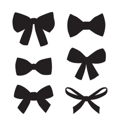 Set of graphical decorative bows vector