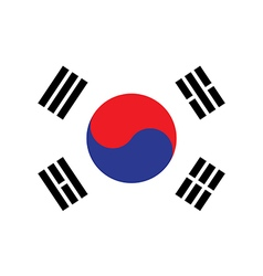 Flag of south korea vector