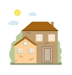 Colorful cottage house vector