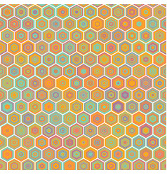 Abstract colorful honeycomb seamless vector