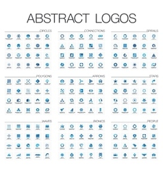 Abstract logo set for business company Corporate vector image vector image