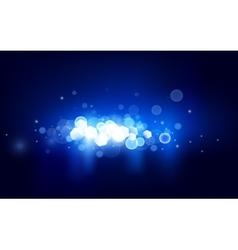 Blue horizontal bokeh vector image vector image