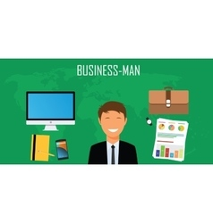 businessman things and stuff vector image