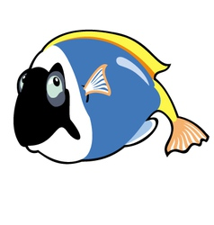 Cartoon blue tang vector