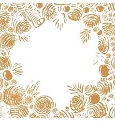 Christmas Holiday hand drawn frame vector image