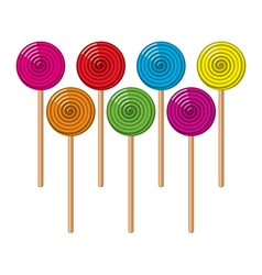 Colorful lollipop candies vector
