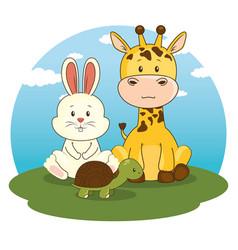 cute adorable animal cartoon vector image vector image