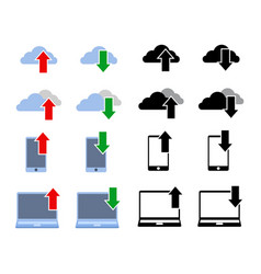 download upload simple icon vector image vector image