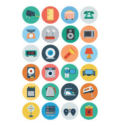 Electronics flat icons 2 vector