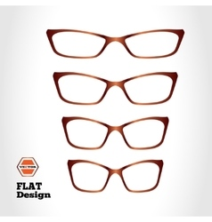 Eye glasses set Optical glass appliance for vector image vector image