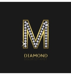 Golden letter M vector image