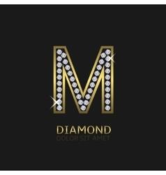 Golden letter M vector image vector image
