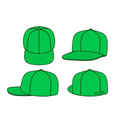 green rap cap vector image