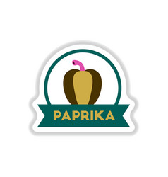 Label icon on design sticker collection paprika vector