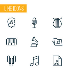 Music outlines set collection of soundtrack keys vector