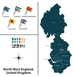 North west england vector