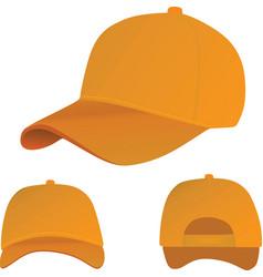 orange baseball cap vector image
