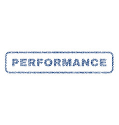 Performance textile stamp vector