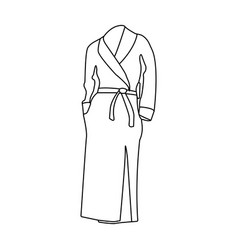 Pink lady s gown after bath home clothes for vector