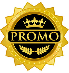 Promo gold icon vector