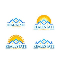 real estate logo design realty logo vector image