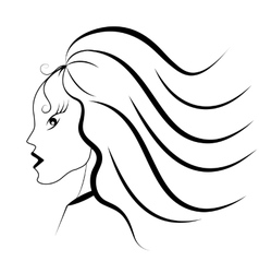 Stylish girl vector
