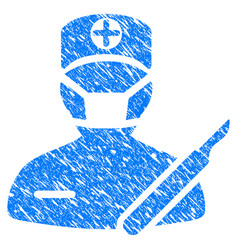 surgery grunge icon vector image