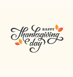 Thanksgiving day lettering card vector