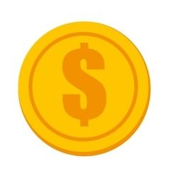 Money and investment isolated flat icon vector