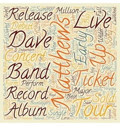 Music artist dave matthews band bio text vector