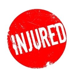 Injured rubber stamp vector