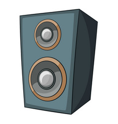 Music speaker icon cartoon style vector