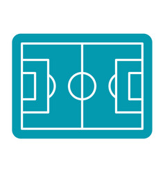 Soccer field icon vector