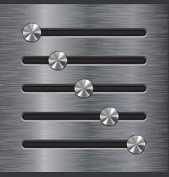 Metal slider bar stainless steel brushed surface vector