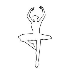 Ballet dancer the black color icon vector