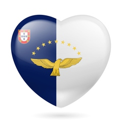 Heart icon of azores vector