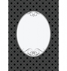 oval frame vector image