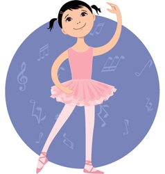 Cute little ballet dancer vector