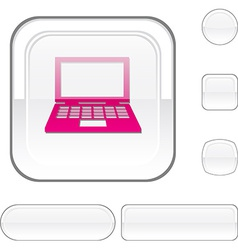 Notebook white button vector