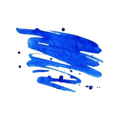 Blue watercolor stain with aquarelle paint blotch vector