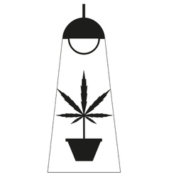 Marijuana grow box vector